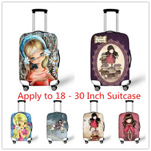 Thick Elastic Luggage Protective Covers For 18 20 22 24 26 28 30 Inch Suitcase,Women Travel Case Dust Waterproof Rain Covers(China (Mainland))