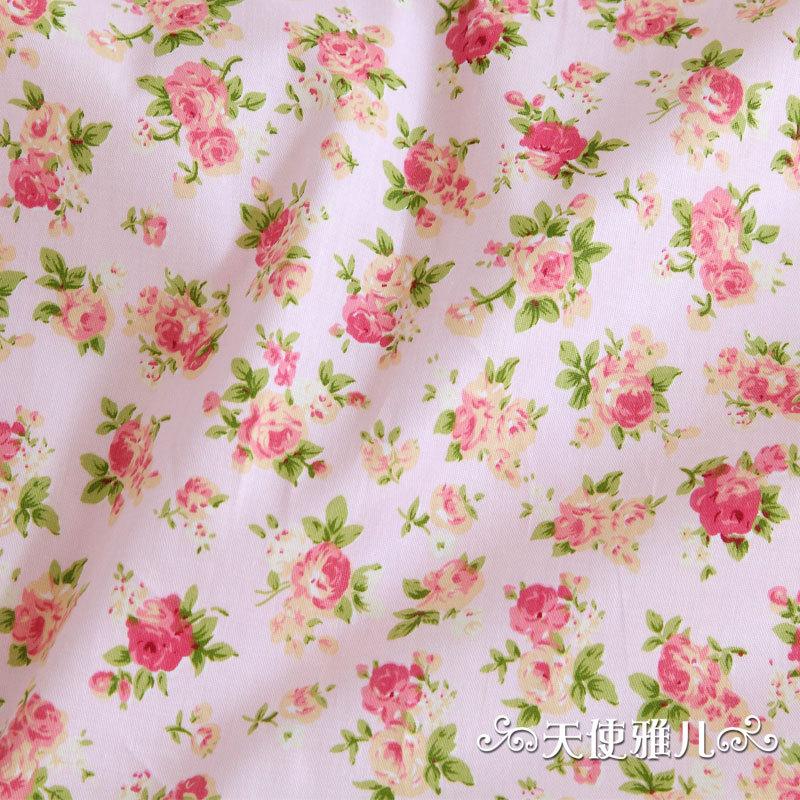 Buy 50cm 160cm rustic pink cotton print for Kids print fabric