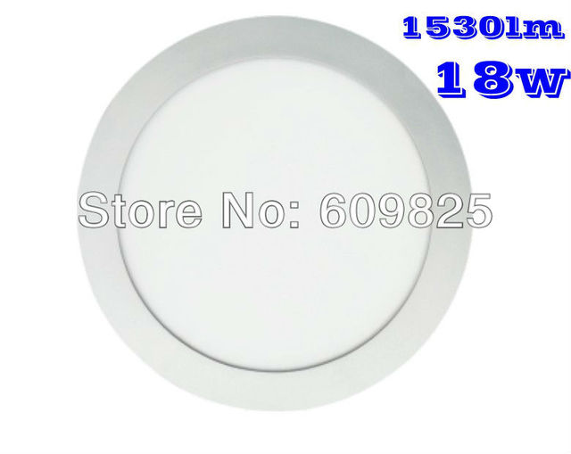 2014 Rushed Aluminum Industrial Ccc Free Shipping 1pcs Round Panel Lights 18w The Light White/warm Hbo Family Hot Sale Funny