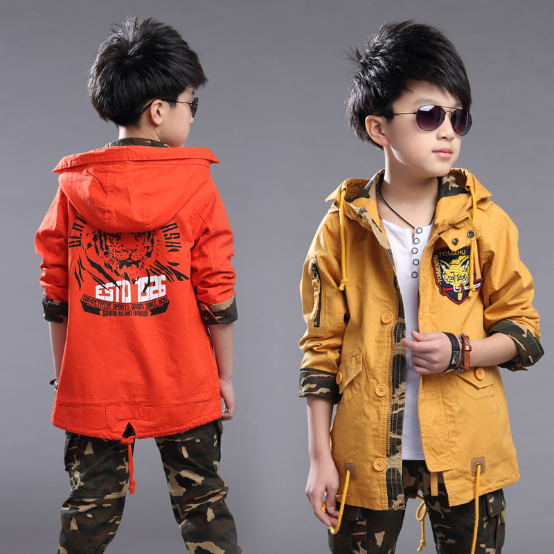2016 new spring childrens clothing boys spring and autumn coat jacket and long sections windbreaker jacket big virgin<br><br>Aliexpress