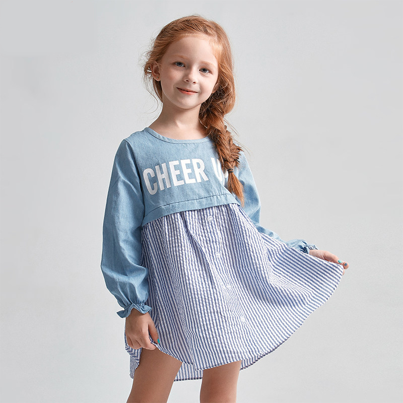 2016 Summer Dress Girls Frock Designs Denim Dress Kids Summer Style Girls Boutique Denim Dresses Summer Style Baby Kids Clothes