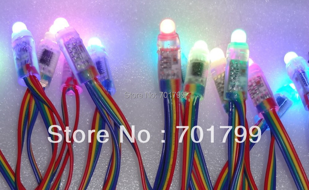 IP68 DC5V 12mm WS2801 pixel module,full color;50pcs string;256 gray scale,epoxy resin filled