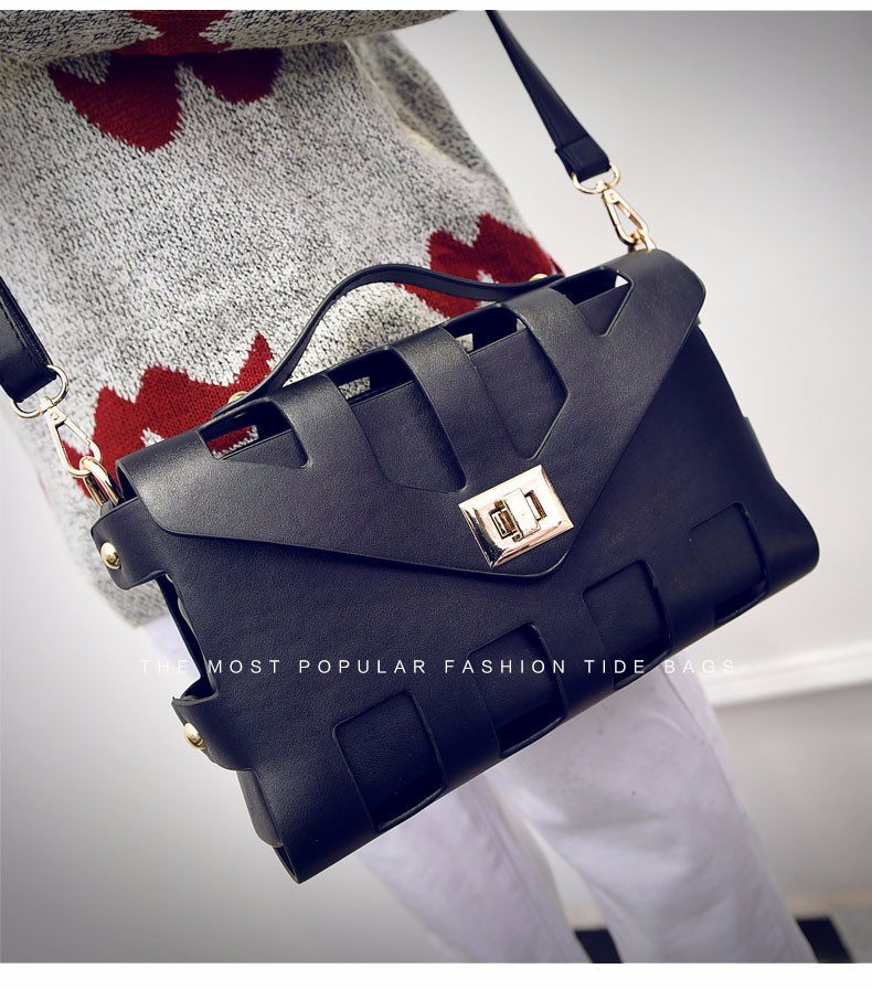 Fashion Cutout Clutch Bag Party Bag 2016 New Occident Style Composite Bag Ladies Designer Chic Hollow Out PU Shoulder Bag