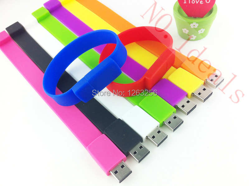 100 real capacity Silicone Bracelet Wrist Band 16GB 16GB 8GB 4GB USB 2 0 USB Flash