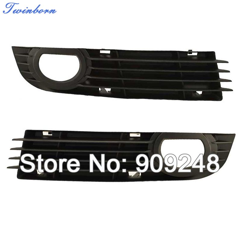 ABS Plastics Bumper Grill For Audi A8 2006 2007 2008 Fog Lamp Cover Grilles 4E0 807 681 AD/ 4E0 807 682 AD(China (Mainland))
