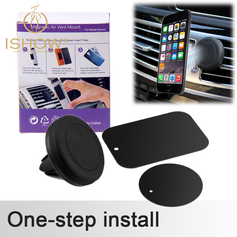 Universal Car Air Vent Mount Clip Magnetic Holder Dock For iPhone For Samsung Magnet holder for Mobile Phone Tablet GPS(China (Mainland))