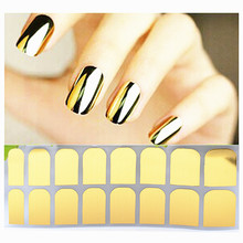 Fashion Glossy Metallic Shiny Nail Sticker 3 Types Decals Summer style makeup polish beauty tools manicure free shipping