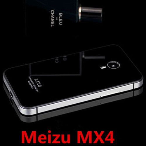 Meizu MX4, Metal Aluminum Tempered Glass Back Case Cover MX4 Mobile Phone Tracking Number - Ponny's 3C Store store