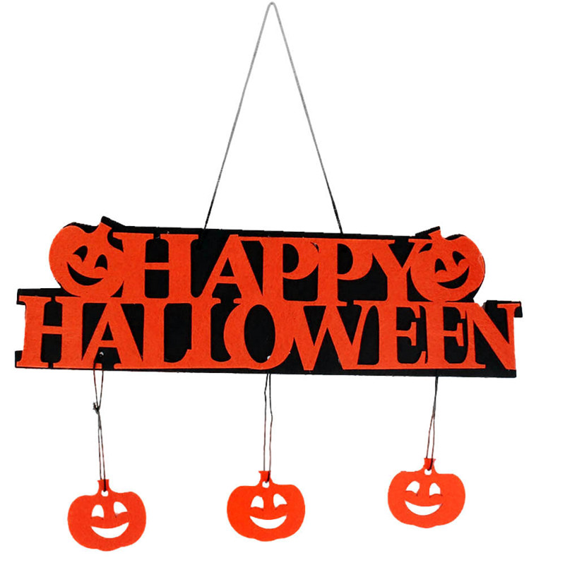 Funny Halloween Decoration Happy Halloween Hangtag Hanging Strips Pumpkin Decoration For Window/ Home/ Shop(China (Mainland))