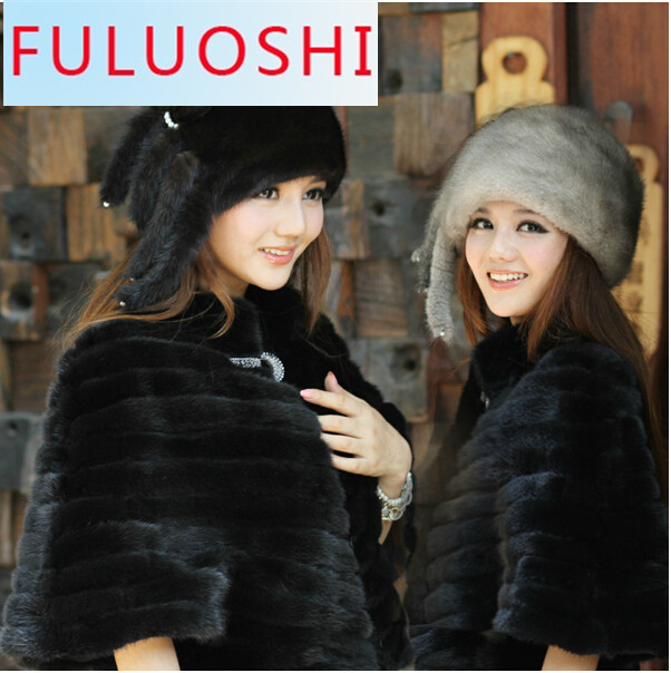 2015 Explosion Models Of New Ms. Mink Fur Winter Hat Tassels Whole Mink Mink Millinery Fox Ear Cap