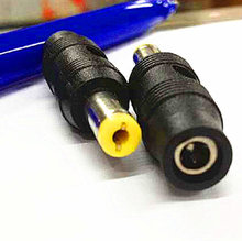 High quality DC3.5 * 1.35 to 5.5 * 2.1 male to DC converter power adapter(China (Mainland))
