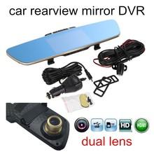 Nieuwe collectie Video spiegel DVR Full HD Originele achteruitkijkspiegel camera 5 Inch Scherm dashcam Black Box dual lens