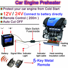 NEW ! Protect Your Car! Car Preheater 12V Remote Control Car Engine Preheater Engine Oil Preheating System 12V Engine Preheater(China (Mainland))