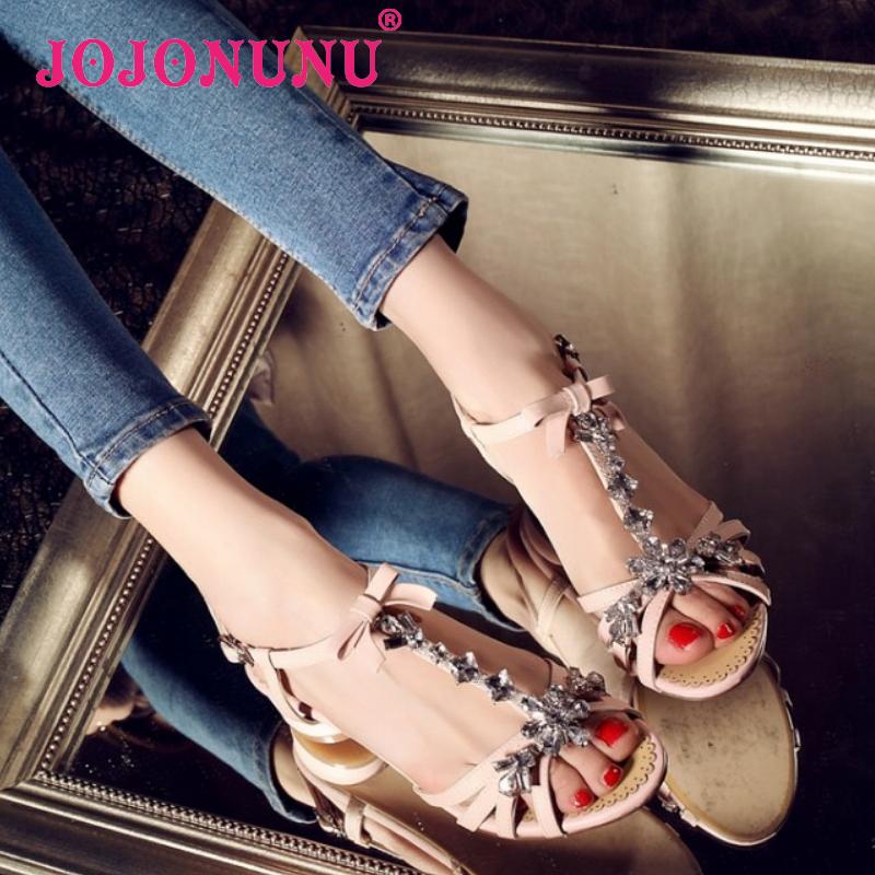 women real genuine leather stiletto bohemia rhineston party sweet flat sandals sexy fashion brand ladies shoes size 34-39 R6633<br><br>Aliexpress
