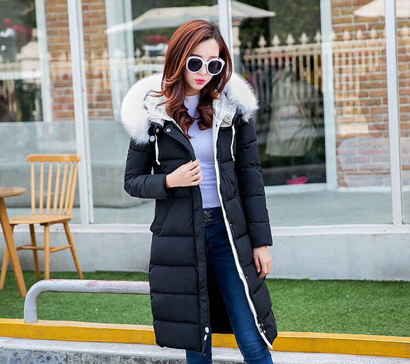 Women's Winter Casual Slim Thick Duck Down Jacket and coat/ Outwear/ Real Fur Collar & Hood Long Plus Size parka four colors