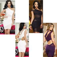 sexy club dress white purple bodycon dress mini dress hot sale 2015 runway backless jurk vestiti woman clothes summer dress R74