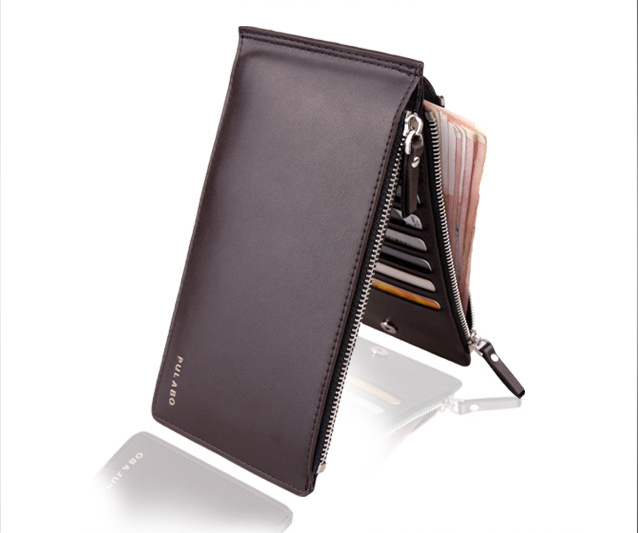 High Quality 2014 new fashion Men Wallet PU leather Ultra-thin Coin Purse Men handbags business card holder for men A007-3(China (Mainland))