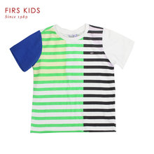 FIRS KIDS Top quality boys t shirt kids toddler shirt boy big boys clothing cotton striped children's T-shirts-40
