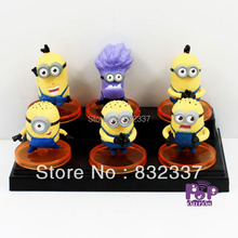 High Quality Anime Pop Movie Cute Despicable Me PVC Action Figures 6PCS/SET Minions For Gift