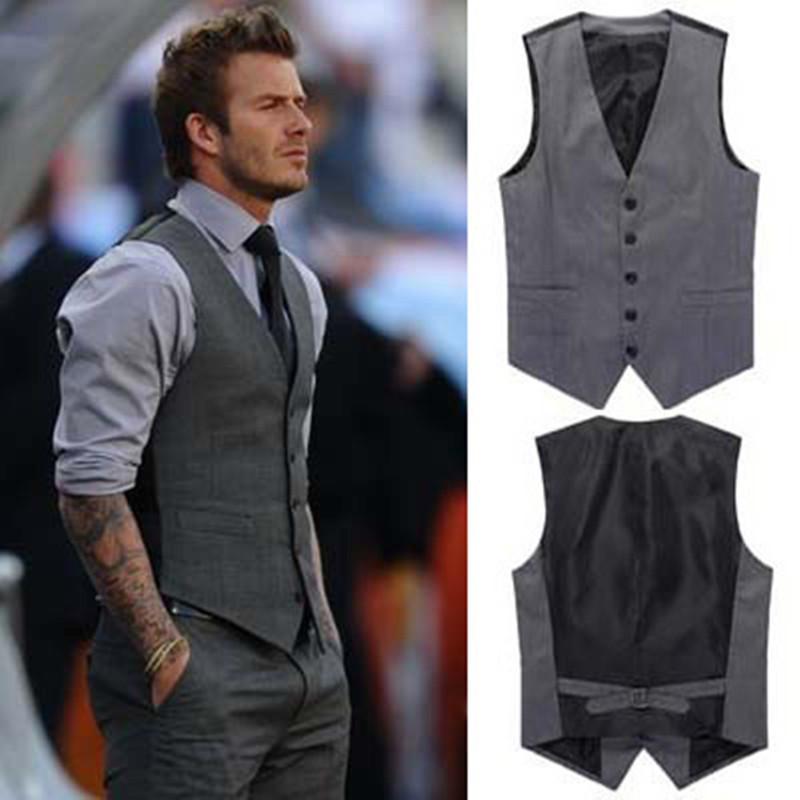2015 New Spring Men's fashion business suit vests / Male leisure suit vests / David Beckham The same style Leisure suits vests