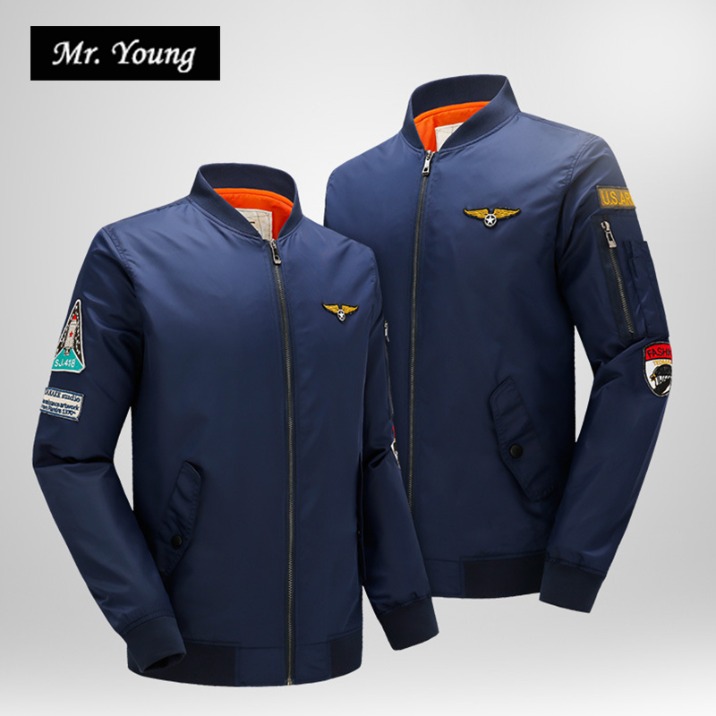 Aeronautica Military Air Force One Long Sleeve Luxury Brand Bomber Jackets Men Pilot MA-1 Baseball Jersey Jackets Windbreakers(China (Mainland))