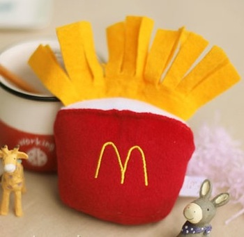 French fries pet vocalization plush dog toys pet odontoprisis toys