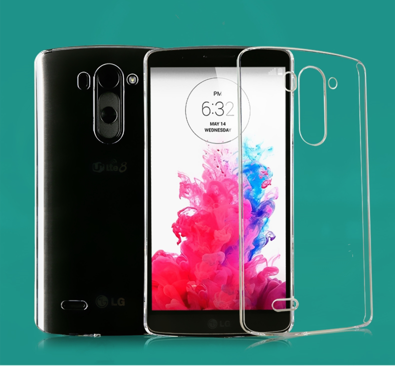 Original Ultra Thin Soft 0.6mm FOR LG G3 mini Case Transparent TPU Soft Case For LS885 G3 Beat Multi Colors G3 Vigor Cover Case(China (Mainland))