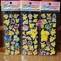 High Quality PVC 30 Sheets Pokemon Foam Cartoon 3D Sticker Pokemon model Pokemon Toy Pikachu Fashion