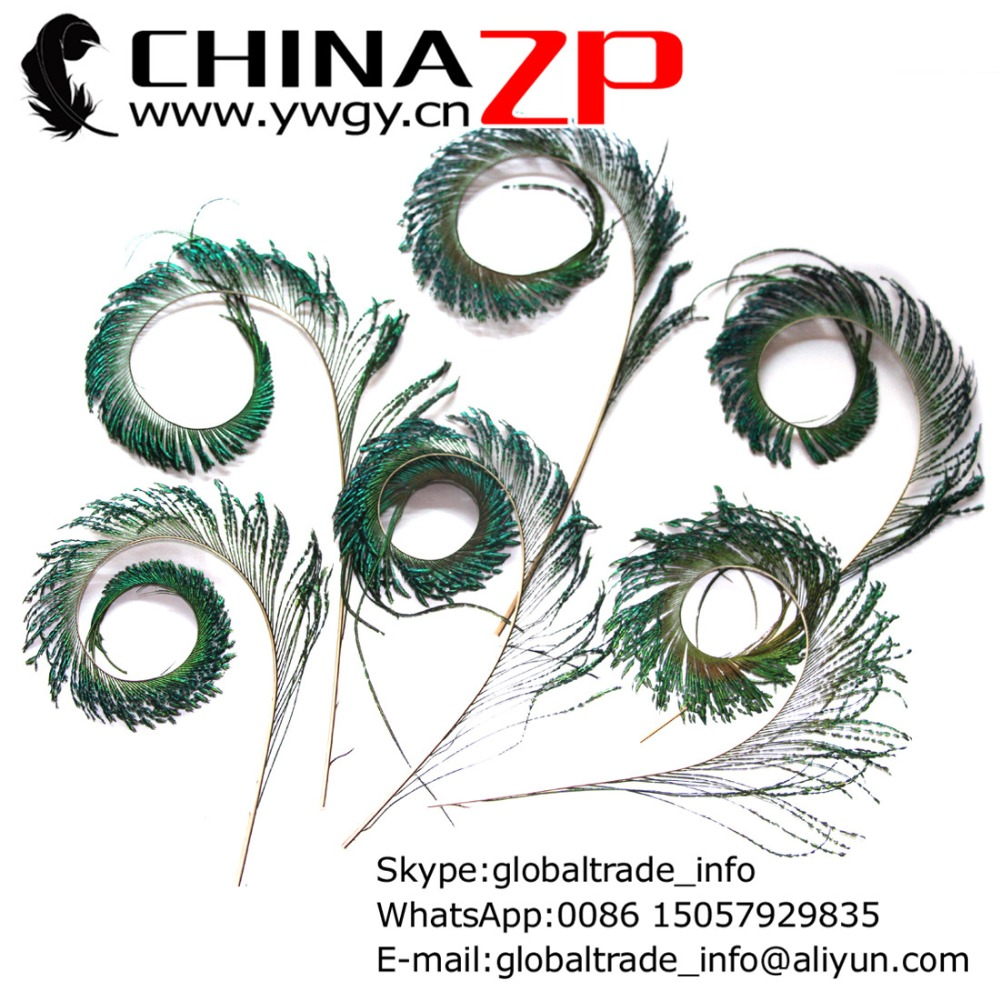 Made in CHINAZP Factory 50pcs/lot Unique Handmade Trimmed NATURAL Peacock Feathers Sword(China (Mainland))