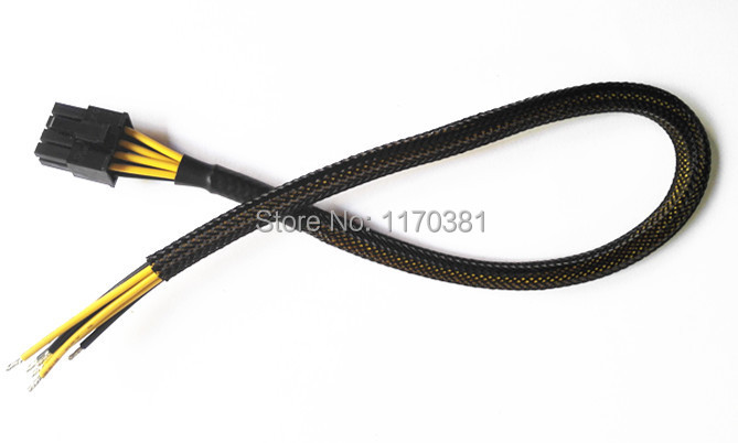 "12"" 8 Pin PCI-E PCI Express Semi-finished sleeved Power extension cable(China (Mainland))"