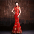 red vintage lace mermaid cheongsam dresses long red lace evening dresses china traditional cheongsam sexy wedding