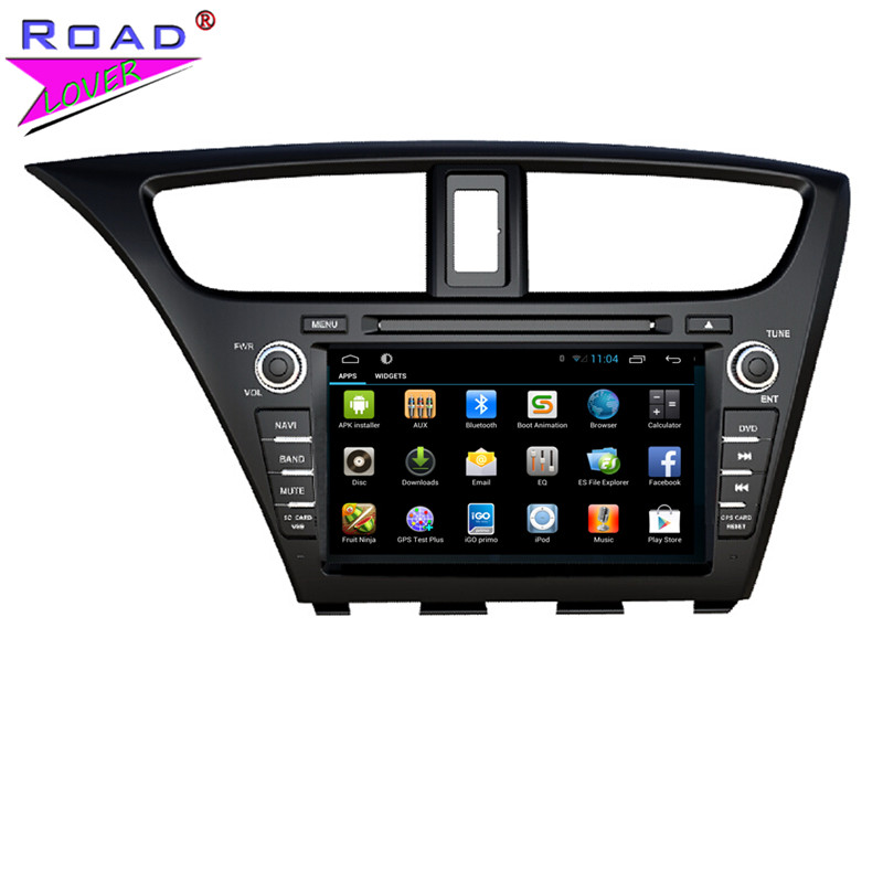 Quad Core Android 4.4.4 Car DVD Player for Honda CIVIC left 2014 new model Mirror Link 16G 1024*600 GPS Navigation free shipping(China (Mainland))
