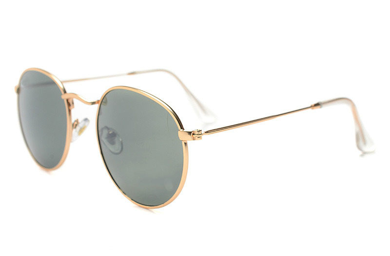 Vintage Metal Frame Color Reflect Lens Round Coating Sunglasses Women Men Unisex Eyewear Lunette De Soleil - Max's fashion store