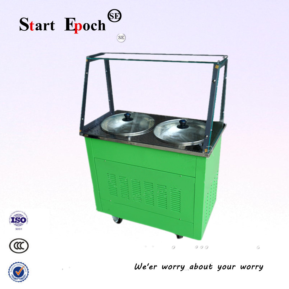 Здесь можно купить  Take the glass Fried ice machine, double pot double Fried ice machine, stir yogurt machineCBJ-09  Бытовая техника