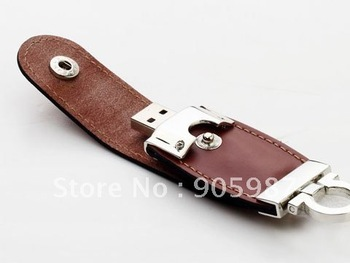 Wholesale  8GB promotion usb flash drives  Leather gift usb flash memory drive,high quality free shipping  USB disk