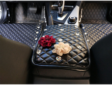 20167women car armrest center pad sets Rotary gloves hand box diamond rose flower fashion mats LH0520 - koy store