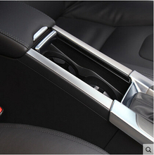 High quality For Volvo S60 /S60L/ V60/ XC60 cup holder armrest box Stainless steel decoration Accessories(China (Mainland))