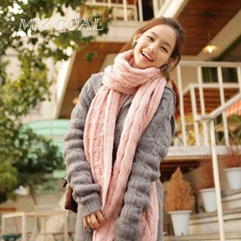 2016 Fashion Women Scarves Shawl Square Knit Stripe Scarf Cable Knit shawl scarves(China (Mainland))