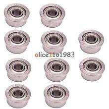 10PCS F693ZZ 3*8*4mm Miniature Deep Groove Ball Flanged Cup Bearings 3x8x4mm(China (Mainland))