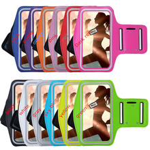 Mobile Phone Armbands Gym Running Sport Arm Band Cover For Samsung galaxy A8 A800 Bags Adjustable Armband protect pouch Case