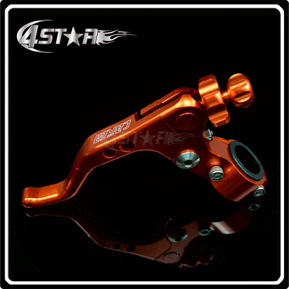 Orange CNC Pivot Short Adjustable Clutch Lever With Clamps Specially For Motorcycle Motocross Dirt Pit Bike CRF KTM YZF KXF RMZ(China (Mainland))