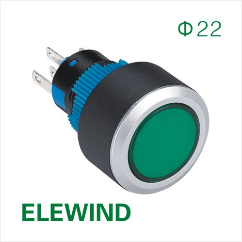 ELEWIND 22mm Round illuminated momentary push button switch (PB223WY-11D/G/2.8V)<br><br>Aliexpress