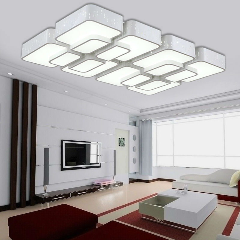 Modern led ceiling lights for living room wireless ceiling lamps for home Dimmable white kitchen ceiling lighting(China (Mainland))