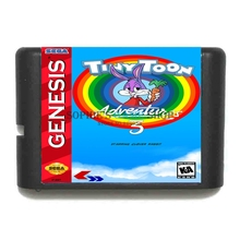 Buy Tiny Toon Adventures 3 16 bit MD Game Card Sega 16bit Game Player for $3.79 in AliExpress store