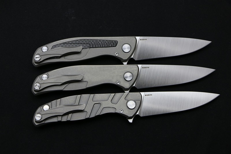 Buy 2016 Green thorn F95 folding knife S35VN Blade titanium carbon fiber handle outdoor camping hunting pocket fruit knife EDC tools cheap