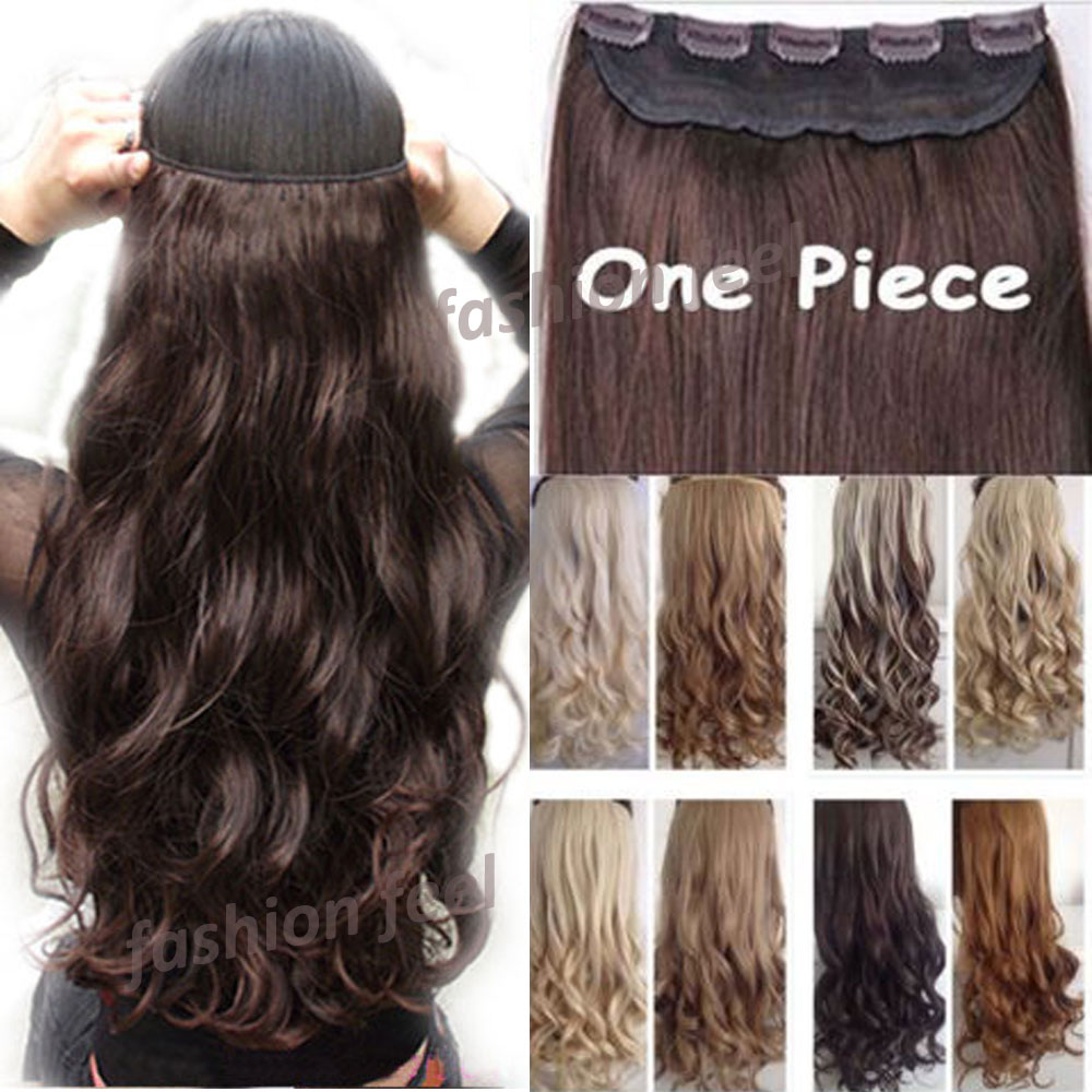 """FACTORY PRICE 18-28"""" 45-70CM 100% Real Natural Hair Extention 3/4 Full Head Clip in Hair Extensions Curly/Curly US UK Fast SHIP(China (Mainland))"""