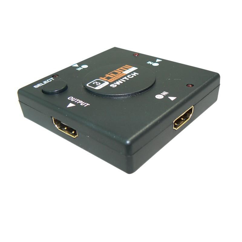 5pcs/lot Mini 3D 1080P 3 Port HDMI Switch Switcher HDMI Splitter Video Selector Hub Box for PS3 Xbox HDTV Free Drop Shipping(China (Mainland))