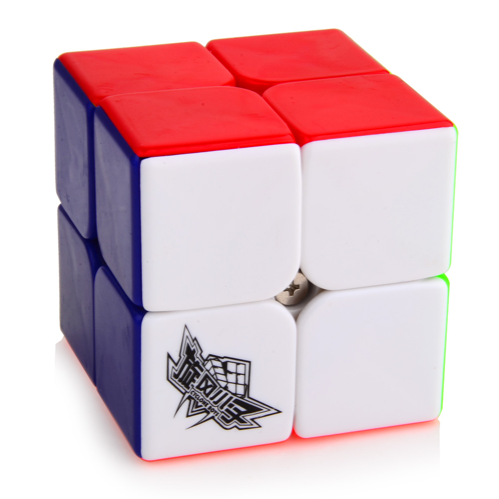Brand New Cyclone Boys 50mm 2x2x2 Magic Cube Puzzle Cubes Challenge Gifts Educational Toys For Kids Child(China (Mainland))