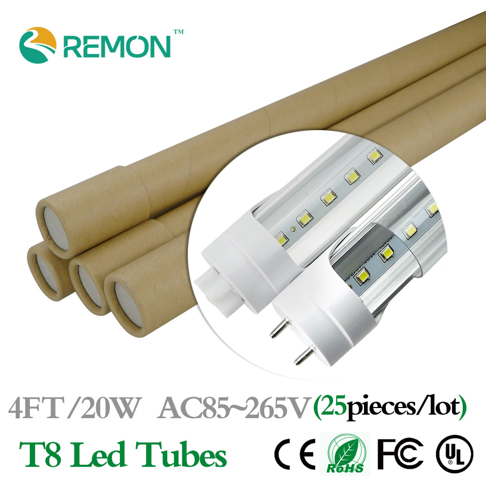 LED Tube 4FT G13 20W 25pcs 1200mm T8 Led Bulbs Tubes Light AC85-265V 2000LM SMD2835 Indoor Lighting Lamp Fedex Free Shipping CE(China (Mainland))