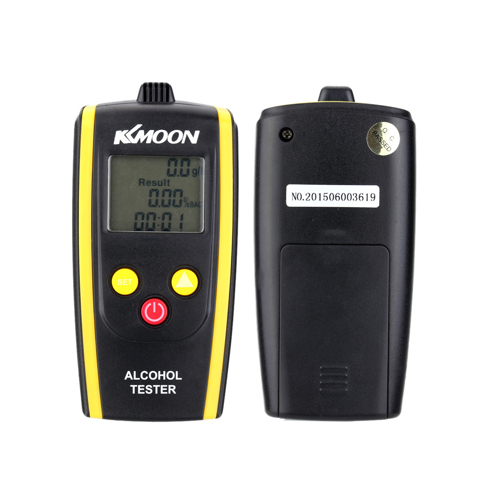 KKmoon New Brand Portable Digital Alcohol Tester Professional Alcohol Detector High Sensitivity Breathalyzer LCD Alcotester(China (Mainland))